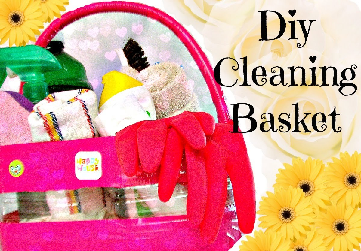 How to make a cleaning basket