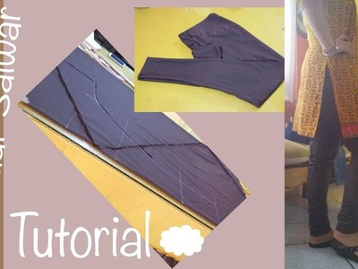 ★ How to make a perfect Churidar Salwar ★bias cutting. Aadaa Pajama  ♥ Cloud factory ☁
