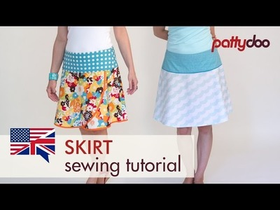 How to sew a skirt with zipper - pattydoo sewing tutorial