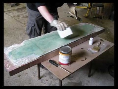 Longboard build time-lapse - glass fiber