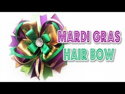 Mardi Gras Hair Bow Tutorial