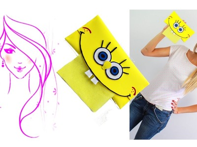 MORENA DIY:How to make Foam Crafts. SpongeBob SquarePants Tissue Holder Tutorial for Kids