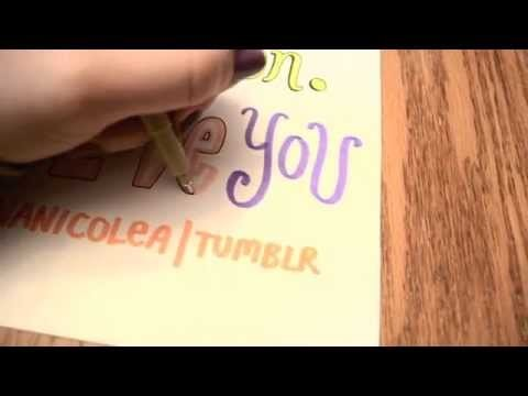 One Direction Word Art Tutorial