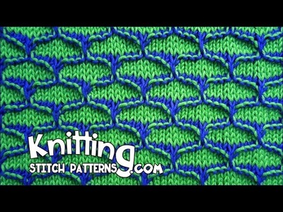 Two-color Dip Stitch  - KNITTING ✔