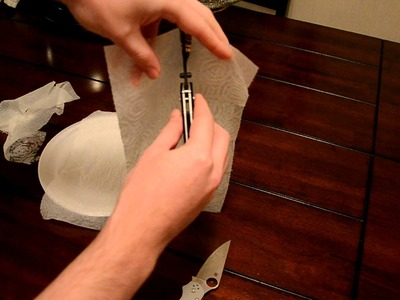 VR to knivesandstuff: Slicing Wet Paper Towel