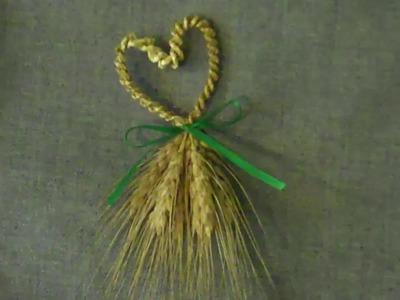 Wheat Weaving: Heart-shaped Wedding Favor