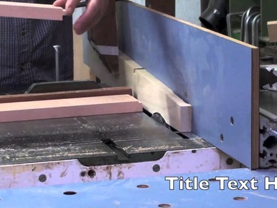 49 How To Build A Bed • Cutting 5 Degree Tenons