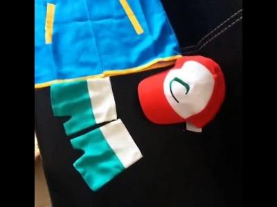 Anime cosplay  Pokemon Ash Ketchum Trainer Costume