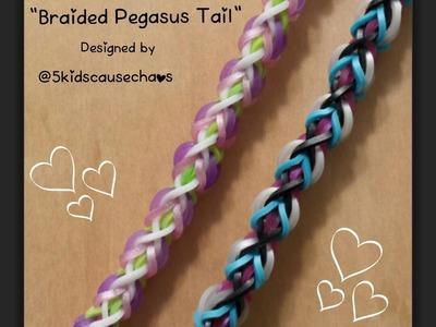 """Braided Pegasus Tail"" Rainbow Loom Bracelet.How To Tutorial"