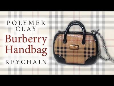 Burberry Purse - Polymer Clay