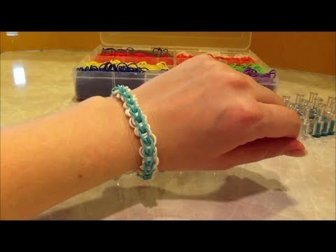 Circle Chain Rainbow Loom Rubber Band Bracelet