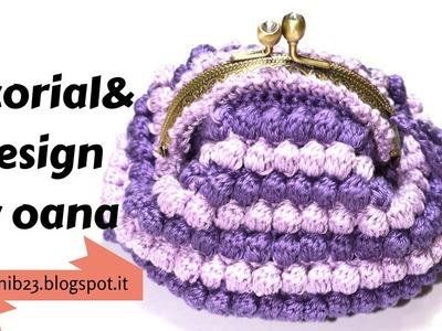 Crochet click clack coin purse