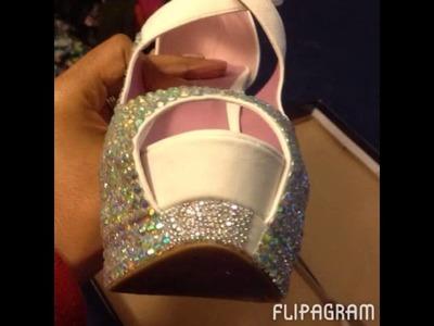 DIY Bling Wedding Shoes by Bunnie Benton