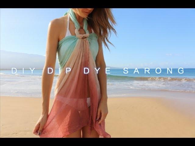 DIY Dip Dye Sarong (Turquoise.Rust)