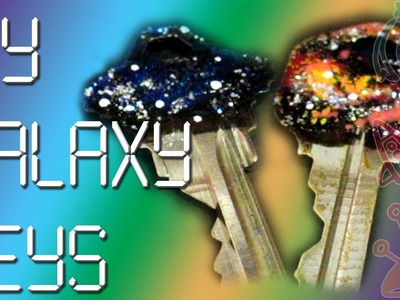 DIY Galaxy Space Keys ♥