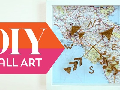 DIY: Map Wall Art ∞ Trash to Fab w. AnneorShine