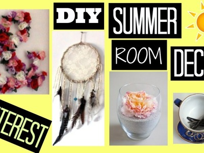 DIY SUMMER ROOM DECOR. PINTEREST - HowToByJordan
