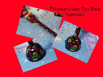 Flower Cane Polymer Clay Pen Base.Stand!