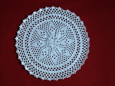 Free Crochet Flower Doily part 6