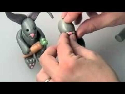 Free Polymer Clay Projects: Sitting Rabbit Pt2