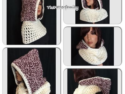 How to Crochet a Hooded Cowl Pattern #21│by ThePatterfamily