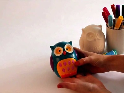 How to decorate an owl money bank