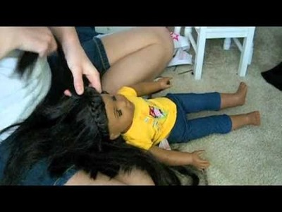 How to do a French Braid 'headband' on American Girl