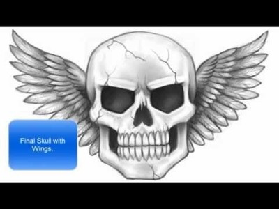 How to Draw a Skull with Wings (Part 2 of 2)