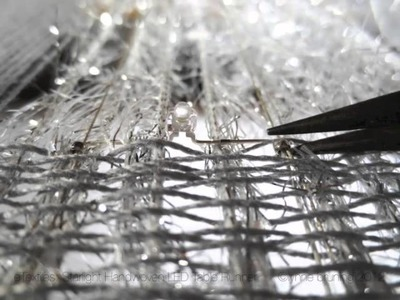 How To - Handweave with Conductive Thread and LEDs