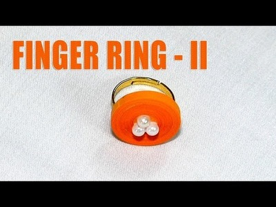 How to Make a Finger Ring Design - II