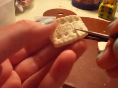 How to make a polymer clay biscuit cookie!