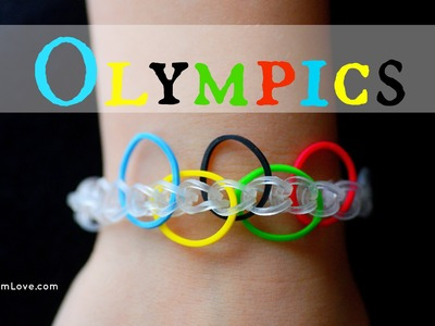 How to Make an Easy Rainbow Loom Olympics Bracelet
