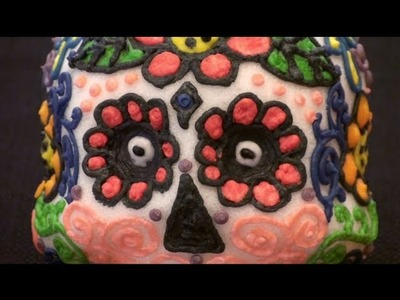 How to make Day of the Dead Sugar Skulls. Dia de los Muertos Calaveras Tutorial