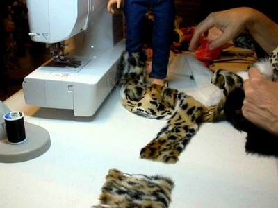 How to Make Doll Boots using Fur
