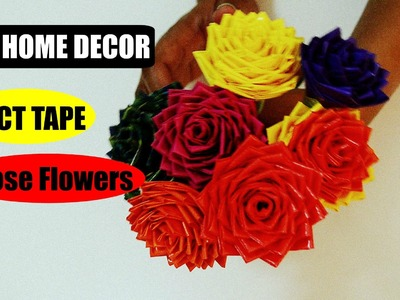 How To Make Roses Using Duct Tape | DIY Home Decor
