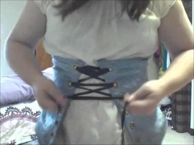 How to tie a lock tie on a front lacing corset (version 2!)