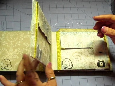 Mini pocket envelope album recipe book for Chef Steve Cricut Cartridges Used