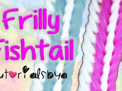 NEW {2 Row} Frilly Fishtail Bracelet Rainbow Loom Tutorial