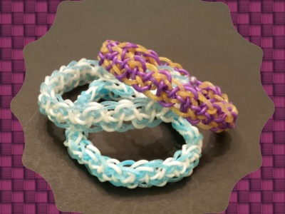 "New ""Ionic Serpant"" Rainbow Loom Bracelet.How to Tutorial"