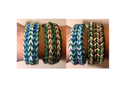 New Rainbow Loom Chunky Reversible Fishtail Bracelet