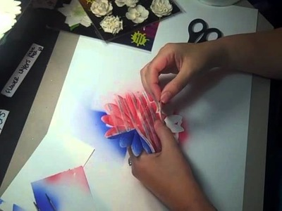 Petaloo's Color Me Crazy & Copic featuring the Giant Daisy & Silk Paper Collection Flag Tutorial