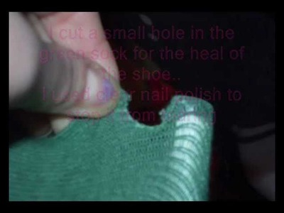 Poison ivy Halloween costume part 2 sock boots.wmv
