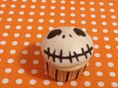 Polymer Clay Jack Skellington Cupcake Charm Tutorial
