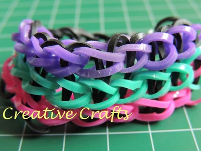 Pulsera Rainbow Loom Tutorial en español. Bracelet Rainbow Loom triple single.