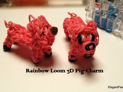 Rainbow Loom 3D Pig Charm - How to