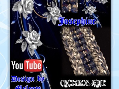 Rainbow Loom Band Josephine Bracelet Tutorial.How to
