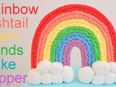Rainbow Loom Bands Cake Topper How to by Pink Cake Princess