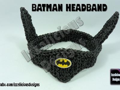 Rainbow Loom Batman Headband.Bracer - Single Loom - Gomitas