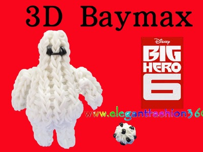 Rainbow loom Big Hero 6 Baymax 3D Charm.Figurine - How to Loom Bands