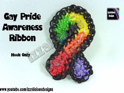 Rainbow Loom Gay Pride Awareness Ribbon - Hook Only.Loom Less